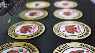 Photo of Embroidered iron-on patches