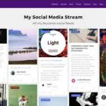 social media feed on wordpresss