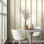 Give your walls a glamorous look with white wallpaper