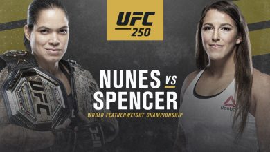Photo of UFC 250: Nunes vs. Spencer | Las Vegas, Nevada. Event Date: June 6, 2020 at 1:15pm EDT.