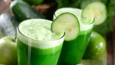 Photo of Cucumber juice is a healthy and nutritious drink.
