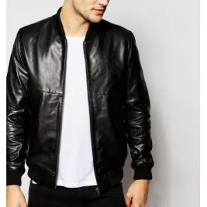 Men's Leather Bomber Jackets